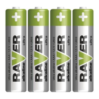 Alkalická baterie RAVER AAA (LR03)