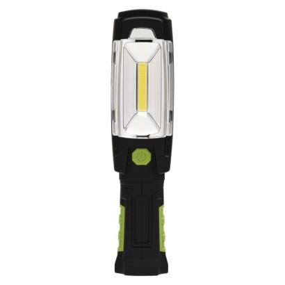 Polnilna LED delovna svetilka 3W COB + 6 LED, 380lm,2500mAh