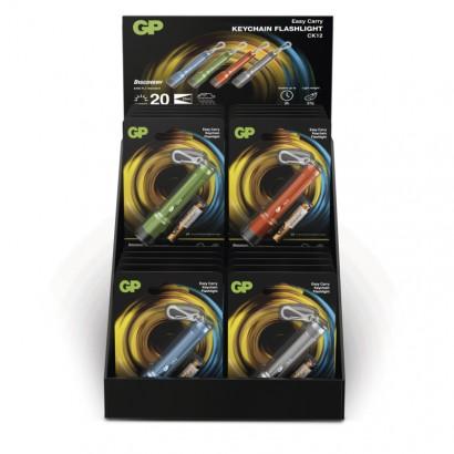 LED ruční svítilna GP CK12, 20 lm, 1× AAA, 16 kusů, 4 barvy
