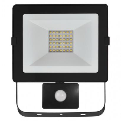 LED reflektor HOBBY SLIM s pobyb. čidlem, 30W neutrální bílá