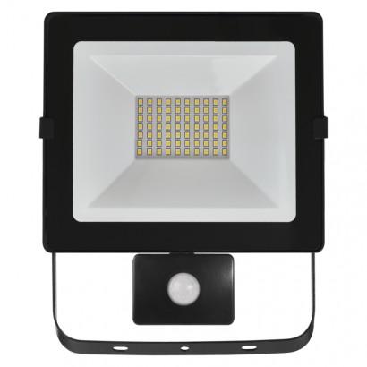 LED reflektor HOBBY SLIM s pohyb. čidlem, 50W neutrální bílá