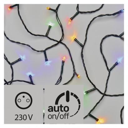 LED vánoční řetěz, 12m, multicolor, časovač