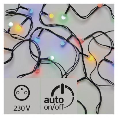 LED vánoční cherry řetěz – kuličky, 20m, multicolor, časovač