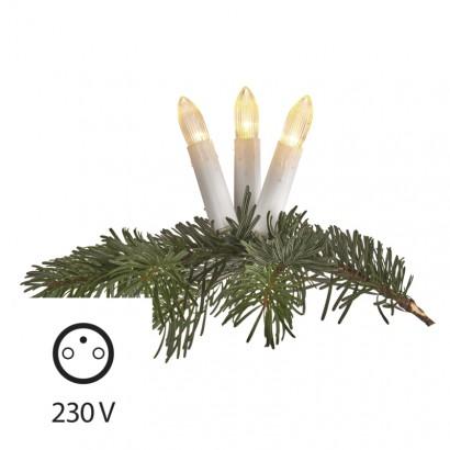 LED vánoční řetěz – svíčky, 7m, teplá bílá