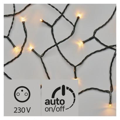 LED vánoční řetěz, 12m, jantarová, časovač