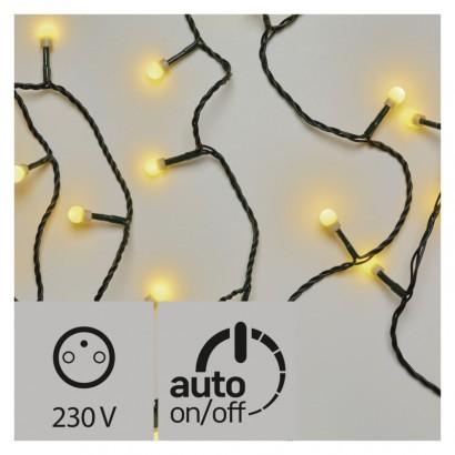 LED vánoční cherry řetěz – kuličky, 30m, teplá bílá, časovač