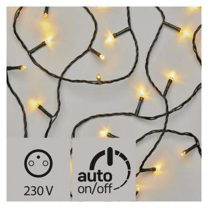 LED vánoční řetěz, 12m, teplá bílá, časovač