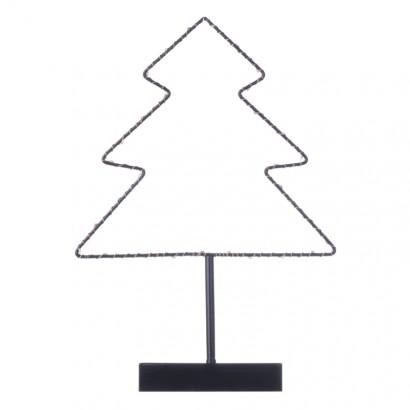 LED vánoční stromek stojan, 35cm, 3× AA, teplá bílá, časovač