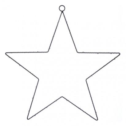 LED vánoční hvězda kovová, 40cm, 3× AA, teplá bílá, časovač