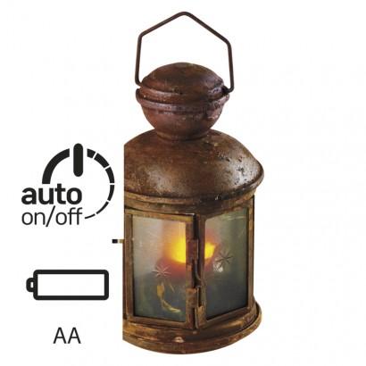 LED lucerna vintage, 3×AA, teplá bílá, časovač