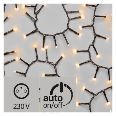 LED vánoční řetěz – ježek, 8m, jantarová, časovač