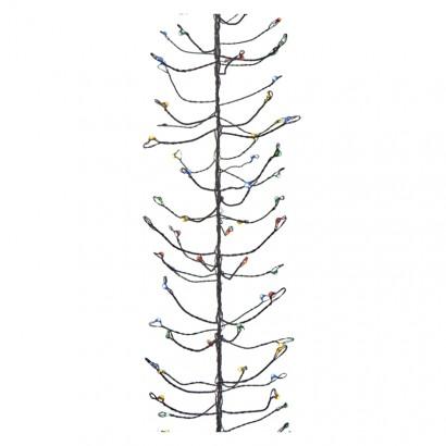 LED vánoční nano řetěz – ježek, 2,4m, multicolor, časovač