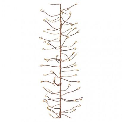 LED vánoční nano řetěz – ježek, 2,4m, jantarová, časovač