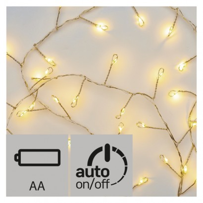 LED vánoční nano řetěz – ježek, 2,4m, teplá bílá, časovač