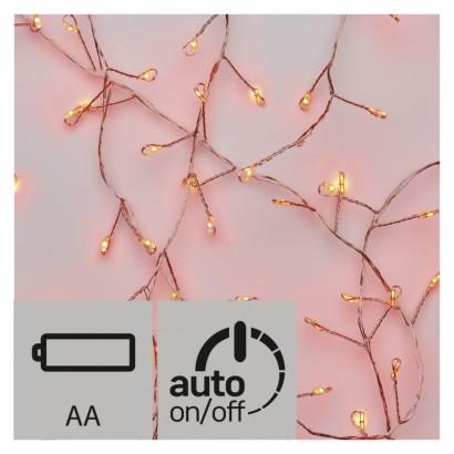 LED vánoční nano řetěz – ježek, 2,4m, červená, časovač