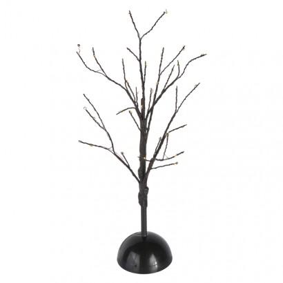 LED vánoční stromek, 40cm, 3× AA, vnitřní, teplá bílá, čas.