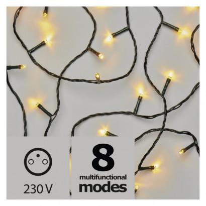 LED vánoční řetěz, 18m, teplá bílá, programy