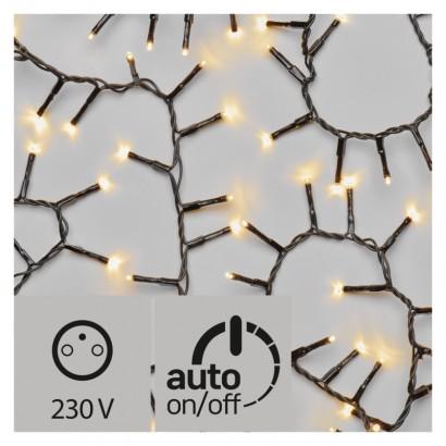 LED vánoční řetěz – ježek, venkovní, 12m, teplá bílá, čas.