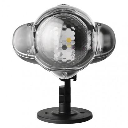 LED dekorativní projektor – padající vločky, venkovní