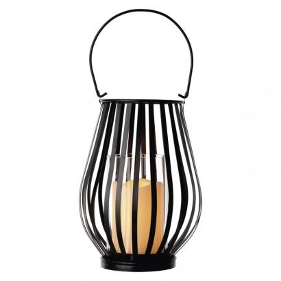 LED dekorace – lucerna svislá mřížka, 3× AAA, blikající,t.b.