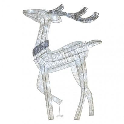 LED vánoční 3D sob, 76cm, vnitřní, studená bílá, časovač