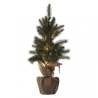 LED vánoční stromek, 52cm, 2× AA, vnitřní, teplá bílá