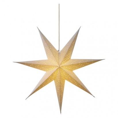LED vánoční hvězda papírová bílá, 75cm