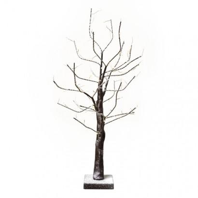 LED vánoční stromek, 60cm, 3× AA, vnitřní, teplá bílá, čas.