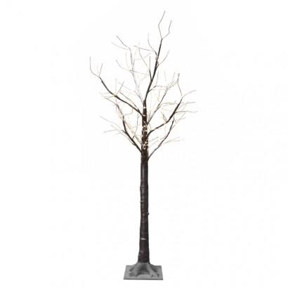 LED vánoční stromek, 180cm, venkovní, teplá bílá, časovač
