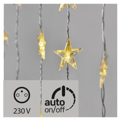 LED vánoční závěs – hvězdy, 120×90cm, vnitřní, teplá b., č.