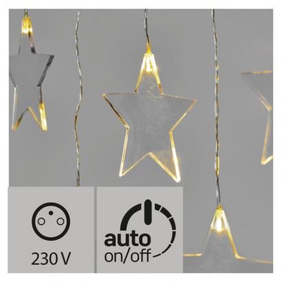 LED vánoční závěs – hvězdy, 80cm, venkovní, teplá bílá, č.