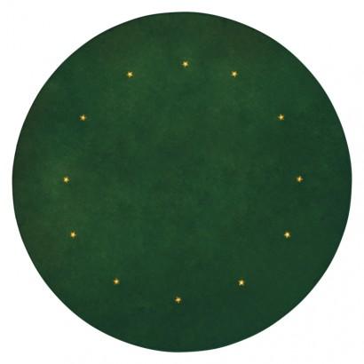 LED podložka pod vánoční strom, zelená, 1m, časovač