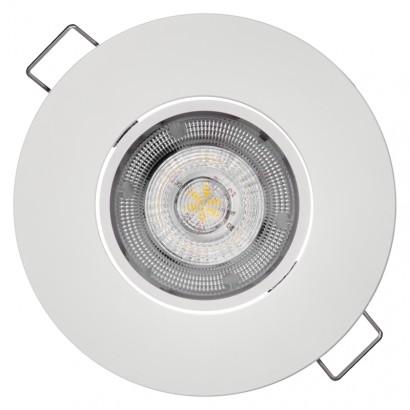 LED bodové svítidlo Exclusive bílé, kruh 8W neutrální bílá