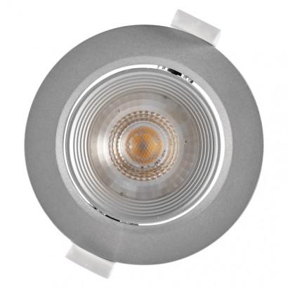 LED bodové svítidlo stříbrné, kruh 7W t. b., krokově stmív.