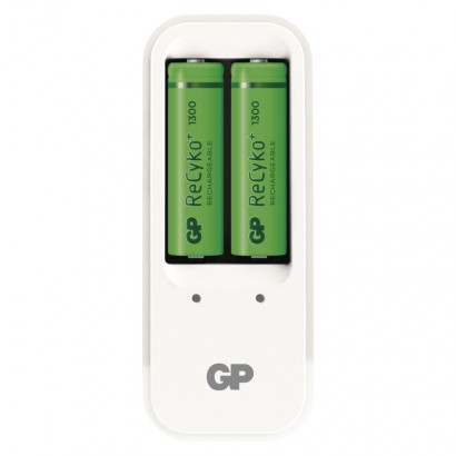Nabíječka baterií GP PB410 + 2× AA GP ReCyko+ 1300