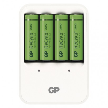 Nabíječka baterií GP PB420 + 4× AA GP ReCyko+ 2500