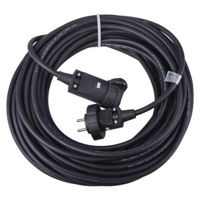 Prodlužovací kabel gumový – spojka, 20m, 3× 2,5mm2