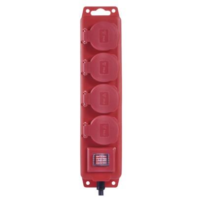izdelek-podaljsek-4-vticnice-3m-rdeca