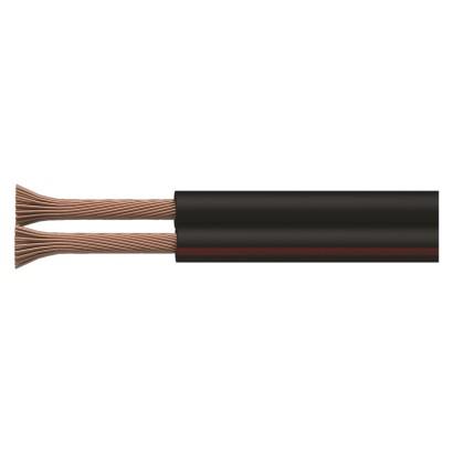 Dvojlinka nestíněná 2x0,15mm černo/rudá, 200m