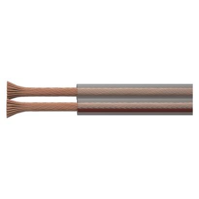 Dvojlinka ECO 2x2,5mm, průhledná, 100m