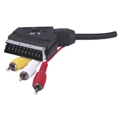 AV kabel SCART - 3x CINCH 1,5m