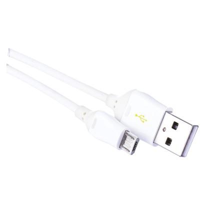USB kabel 2.0 A/M - micro B/M 1m bílý, Quick Charge