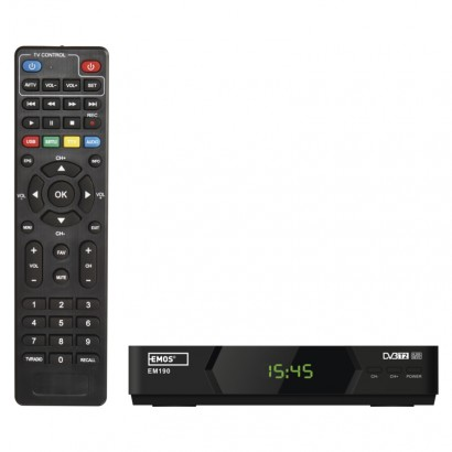 Set-top box EMOS EM190 HD HEVC H265 (DVB-T2)