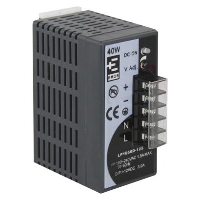 12V DC/3A zdroj pro videotelefony/CCTV pro instalaci na DIN