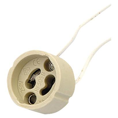 Objímka na žárovku GU10 keramická 250V/2A, bílá