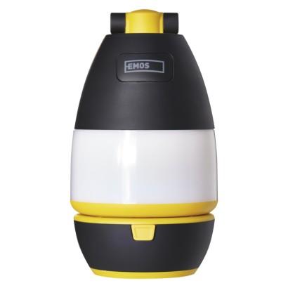 LED multifunkční kempingová svítilna P4008, 215 lm, 3× AA