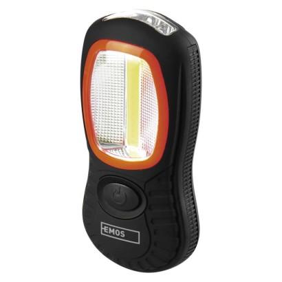 COB LED + LED pracovné svietidlo P3883, 150 lm, 3× AAA