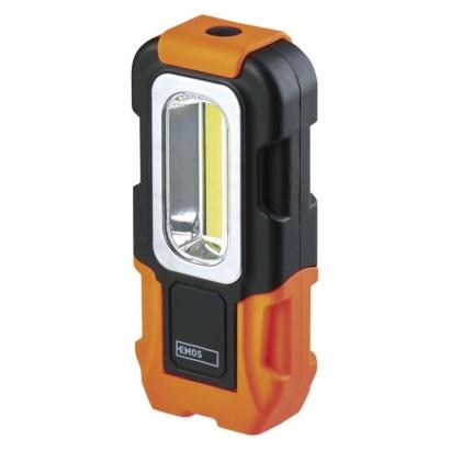 COB LED pracovní svítilna P3888, 200 lm, 3× AAA