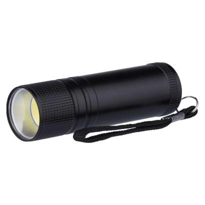 COB LED ruční kovová svítilna P3894, 100 lm, 3× AAA