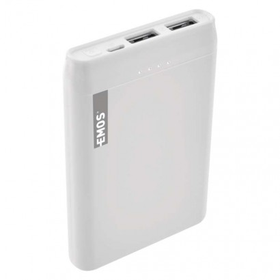 Powerbanka EMOS Alpha 5, 5000 mAh, bílá + kabel USB-C